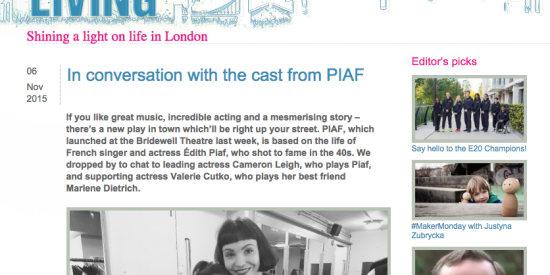 London Living: In conversation with the cast from Piaf