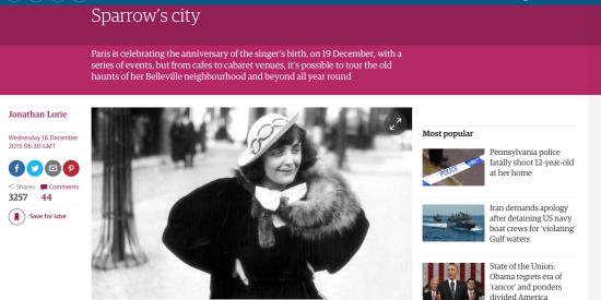 Edith Piaf's Paris: exploring the Little Sparrow's city