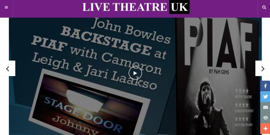 Stage Door Johnny goes Backstage at Piaf